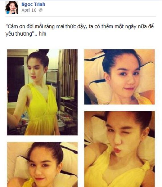 """""""Đột nhập"""" Facebook của Nữ hoàng nội y Ngọc Trinh"""