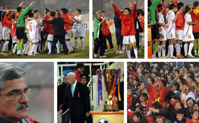 Việt Nam vô địch AFF Cup 2008: Duy Mạnh nhặt bóng ở sân Mỹ Đình, Quang Hải thần tượng Công Vinh