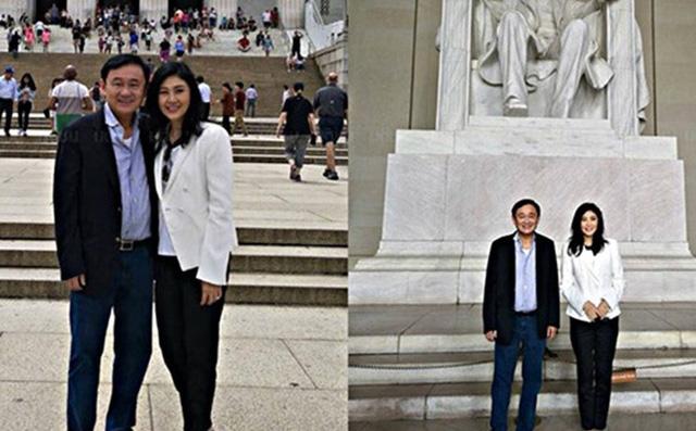 Lộ ảnh anh em Thaksin, Yingluck ở Mỹ, giới chức Thái Lan vội vã vào cuộc