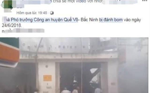 Truy tìm kẻ tung tin nhà Phó trưởng Công an huyện Quế Võ bị đánh bom 1