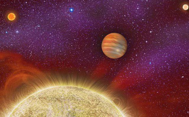 Ảnh đồ họa của NASA về một hệ hành tinh có siêu Trái đất.