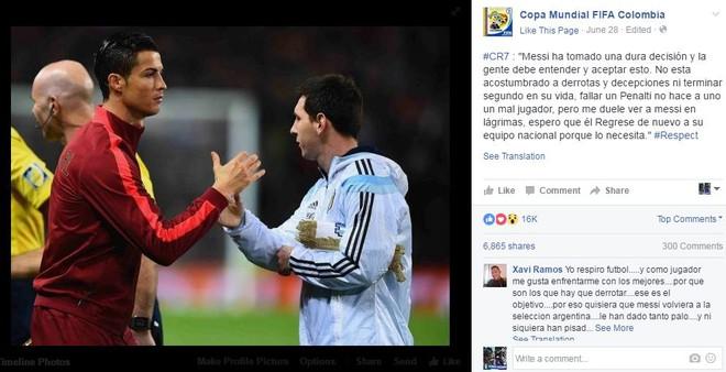 Tiết lộ gây sốc về hành động nghĩa hiệp của Ronaldo với Messi - Ảnh 1.