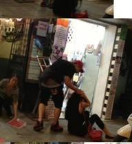 Lộ diện nhiều hình ảnh Yanbi giật tóc, đánh ngã Andrea giữa phố