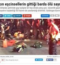 """Báo Thổ Nhĩ Kỳ giật tít: """"50 tên biến thái bị giết trong bar"""" gây phẫn nộ toàn thế giới"""