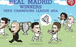 Ronaldo giữ chặt, không dám cho Ramos sờ vào cúp