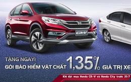 Tri ân đặc biệt khi mua Honda CR-V và Honda City