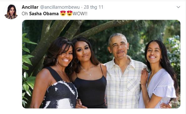 Con gái út của ông Obama lại khiến cộng đồng mạng chao đảo vì quá xinh đẹp và gợi cảm, chiếm hết spotlight của gia đình - Ảnh 4.