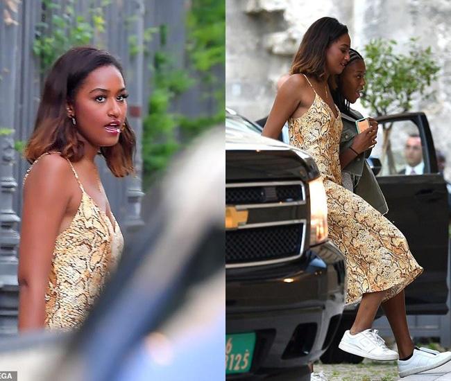 Con gái út của ông Obama lại khiến cộng đồng mạng chao đảo vì quá xinh đẹp và gợi cảm, chiếm hết spotlight của gia đình - Ảnh 6.