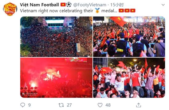 """Báo Trung Quốc dùng từ """"quá sốc"""" để mô tả cảnh fan Việt Nam ăn mừng HCV SEA Games - Ảnh 8."""
