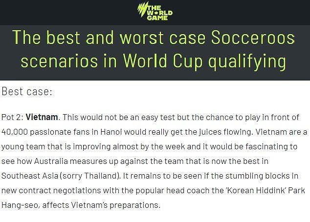 Úc kỳ vọng chung bảng với Việt Nam ở vòng loại World Cup 2022 - Ảnh 2.