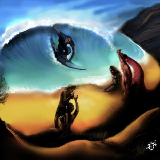 Những bức tranh gây ảo giác điên đảo: Dù nhìn dọc hay ngang, người xem vẫn bối rối - Ảnh 4.