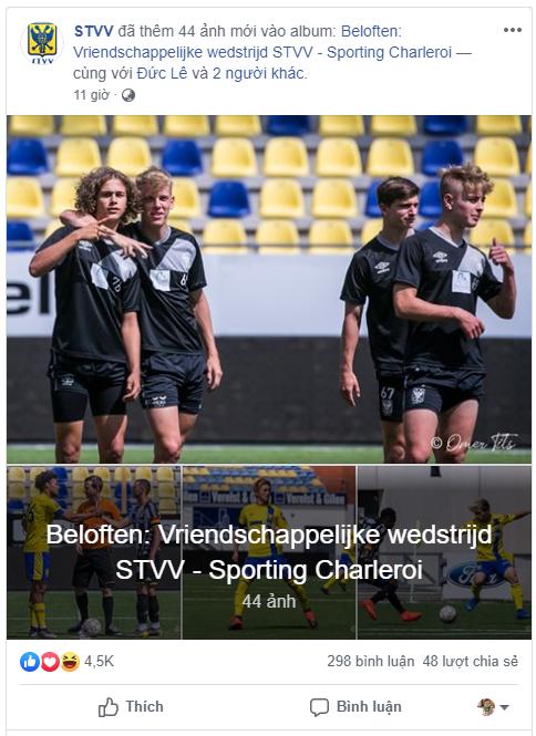 Công Phượng nhận món quà ý nghĩa sau khi lập công cho Sint-Truidense VV - Ảnh 1.
