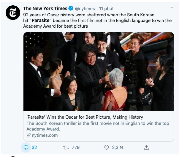 Ký sinh trùng đoạt 4 giải Oscar: 92 năm lịch sử của Oscar đã bị phá vỡ khiến cả thế giới rúng động - Ảnh 2.