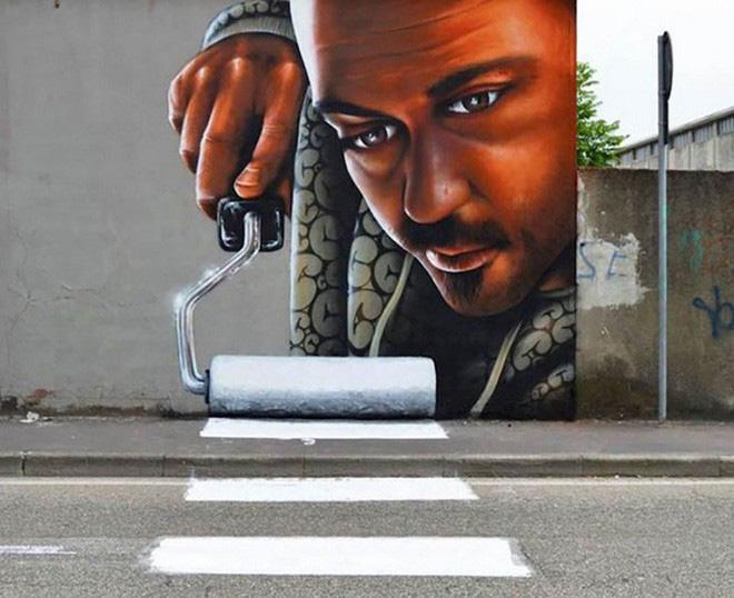 Loạt ảnh nghệ thuật đường phố sẽ khiến bạn không khỏi ngỡ ngàng vì chúng sinh ra dường như để cho nhau - Ảnh 1.