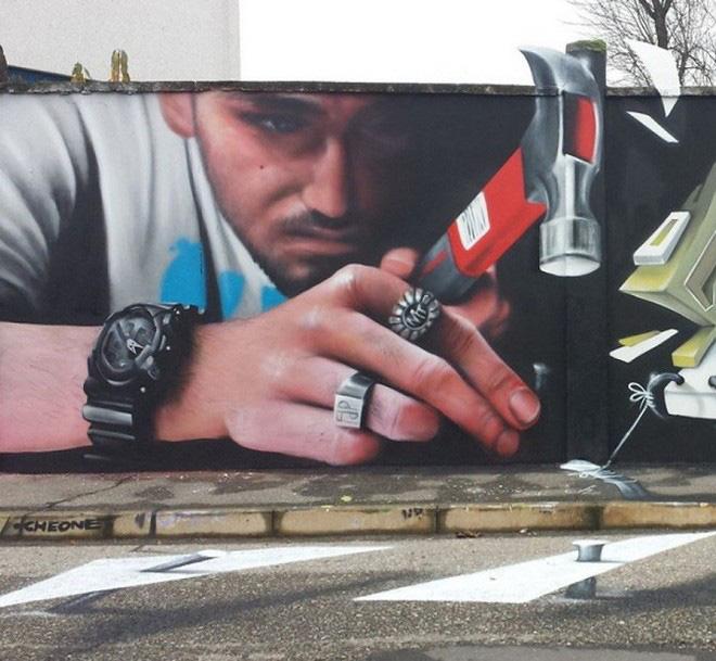Loạt ảnh nghệ thuật đường phố sẽ khiến bạn không khỏi ngỡ ngàng vì chúng sinh ra dường như để cho nhau - Ảnh 3.