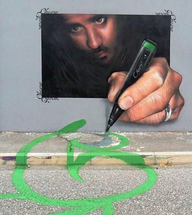 Loạt ảnh nghệ thuật đường phố sẽ khiến bạn không khỏi ngỡ ngàng vì chúng sinh ra dường như để cho nhau - Ảnh 4.