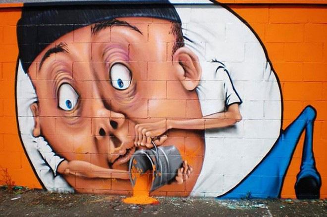 Loạt ảnh nghệ thuật đường phố sẽ khiến bạn không khỏi ngỡ ngàng vì chúng sinh ra dường như để cho nhau - Ảnh 5.