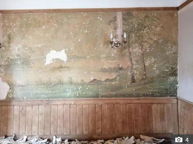 Bí mật bất ngờ về bức tường trong ngôi nhà cổ - Ảnh 1.