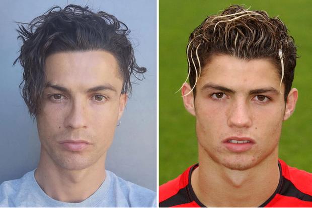 Ronaldo gây sốt MXH bằng kiểu đầu mì tôm mười năm mới có một lần, fan đồng loạt xuýt xoa khen ngợi: Trông anh như đang hồi xuân - Ảnh 2.