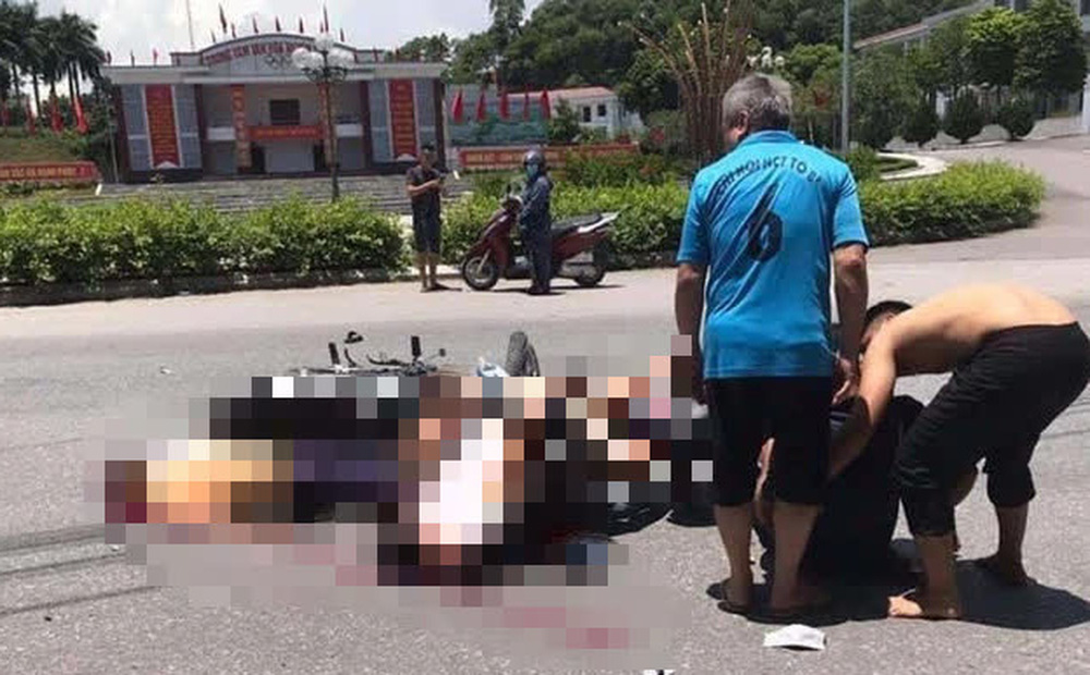 Hiện trường vụ tai nạn khiến 3 người thương vong tại Yên Bái. Ảnh: CTV