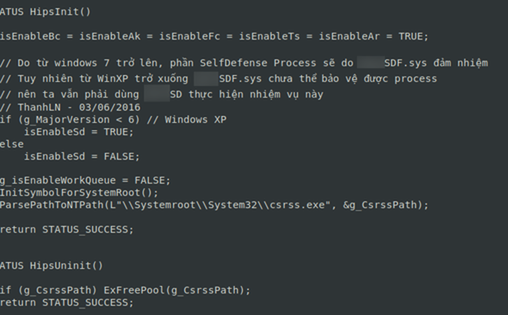 Dữ liệu được cho là của công ty bảo mật hàng đầu tại VN bị rao bán, bao gồm mã nguồn phần mềm diệt virus