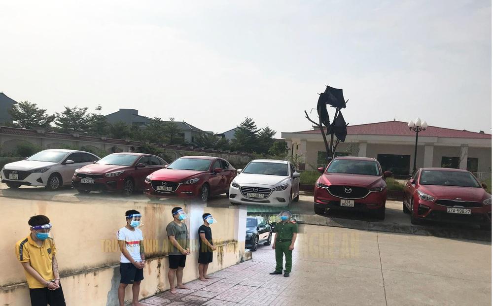 Nghệ An: Phá ổ nhóm sử dụng giấy tờ giả đi thuê hàng loạt ô tô rồi mang bán