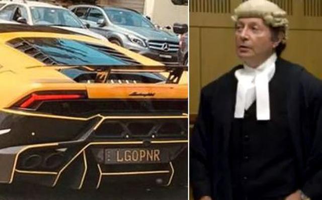 """Chiếc xe sang Lamborghini bỗng dưng nổi tiếng vì có biển số """"thô tục"""", chủ xe phải hầu tòa"""