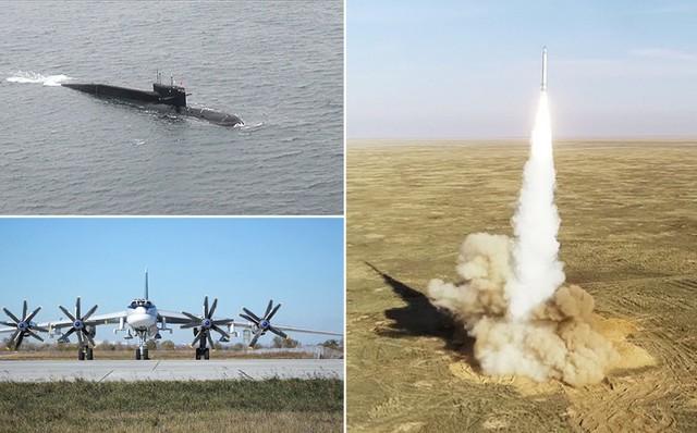 Kích hoạt cùng lúc cả bộ 3 hạt nhân: Sức mạnh răn đe của Nga đã sẵn sàng