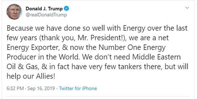 Ông Trump tự khen vì đưa Mỹ thành nước xuất khẩu dầu lớn nhất - Ảnh 1.